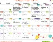 Early Literacy Activity Calendars / Looking for fun and easy ways to work early literacy activities into your little one's day? Just print, play, and learn!