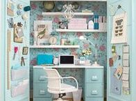 Sewing Room Ideas & Craft Rooms / Sewing room ideas and craft rooms that will inspire you to design a peaceful, beautiful space for yourself to unwind and relax while creating something you love.