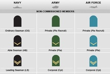 canadian military rank structure / CANADIAN MILITARY INSIGNIA FOR THE NAVY, ARMY AND AIR FORCE - RANK STRUCTURE