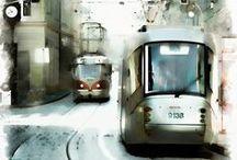 Трамваи, фуникулёры, поезда