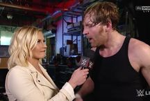 Dean Ambrose and Renee Young❤️ / I officially support this couple and think they are one of the cutest couples out there! Love you Dean Ambrose and Renee Young. I wish for you to be happy