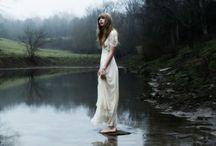 . white wedding dress .