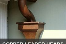 """Copper Leader Heads & Products for Beautifying Your Home / Everything you need to dress up your copper gutters. Some of these products will make great """"side"""" projects. Our leader heads can by used to make mailboxes and flower boxes, to mention a few alternative uses!"""