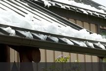 Snow Retention for Metal Roofs / Things to keep snow from falling off your metal roof and causing damages. Best snow retention snow guard systems.