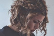 Hairstyle / #hair #braids #fashion #waves #beauty #messy #look #beachywaves #ombre #short #diy