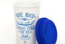 ¡Pal' jugo, té o café con chupete! / Acá encontrarás todos nuestros vasos térmicos, vasos de peltre y frascos chulos.