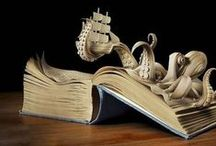 Book Arts / Books made into art - we love the results but hope the books all had long lives in the hands of readers, first.