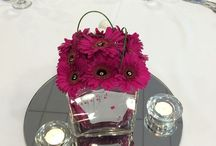 Gerbera  wedding flowers bridal flowers shower bouquet table centre candelabras martini vases goldfish bowl top table civil arrangement venue flowers abbey hotel redditch / Hand tied bouquets table arrangements civil wedding and reception flowers Gerbera  wedding flowers bridal flowers shower bouquet table centre candelabras martini vases small glass vases glass cubes goldfish bowl top table civil arrangement venue flowers abbey hotel redditch
