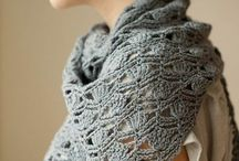 Haken omslagdoek / Omslagdoeken uni en meerkleurig