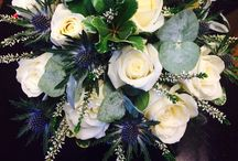 Scottish wedding flowers / Scottish wedding flowers  thistle heather in bridal flowers reception flowers and church