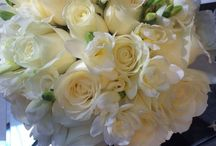Pure White Bouquet This bride's all-white bouquet wedding reception flowers Cream and green bouquet baby's breath and roses wedding flower bouquet, bridal bouquet, wedding flowers, / Brides bridesmaids and church venue and reception flowers in cream and greens Pure White Bouquet This bride's all-white bouquet