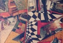 Legni / Collage su legno