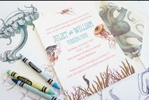 Children's Birthday Invitations & Details / Invitations, event details and party favors for children's parties, kid's party,