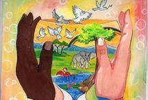 { Dessins d'enfants } / Ces dessins d'enfants, lauréats de divers concours organisés par l'ONU, nous communiquent une vision d'un monde 'oublié'. / by Organisation des Nations Unies (ONU)