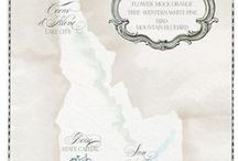 Sun Valley Weddings | Custom Invitations and Details by Honey Paper / Custom wedding and event invitations and details for Sun Valley, Idaho events and surrounding mountain towns by Honey Paper.
