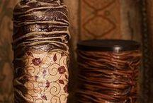 Latones  - Botellas decoradas  y macetas decoradas / Arte y manualidades  / by Silvii Erre