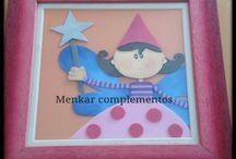 Decoración infantil de Un baúl de princesas / Artículos elaborados con diferentes técnicas para decorar las habitaciones infantiles