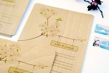 Wood | Custom Invitations by Honey Paper / Printing invitations on wood or wood image backgrounds by Honey Paper