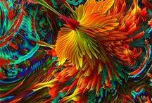 fractal art♫ ♪ ♥●•٠·˙ ☯ / artistic background / L'art fractal consiste à produire des images à partir de fonctions mathématiques, converties en fractales.