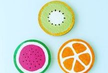DIY Fruity Coasters / DIY Fruity Coasters For Cheerful Summer Meals