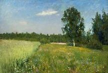 """Isaac Levitan (1860-1900)♫ ♪ ♥●•٠·˙ ☯ /  Isaac Levitan (1860-1900), master of the lyrical"""" mood landscapes """", created from simple, prosaic kinds of"""" iconic images """"of Russian nature - One of the largest and most anticipated projects of the season."""