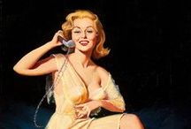 Pin-Up:Harry Ekman ♫ ♪ ♥●•٠·˙ ☯ / Image gallery for the vintage pinup art of Harry Ekman Harry Ekman was a significant American graphic artist. His early influences were Gil Elvgren, Haddon Sundblom, Joyce Ballantyne. Ekman initially apprenticed with Sundblom who was a close family friend and by 1951 for Elvgren. Wikipedia b 1923, United States of America