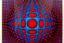 Vega Victor Vasarely♫ ♪ ♥●•٠·˙ ☯ / VASARELLY Victor Vasarely - French/Hungarian (1906-1997) - OP ART (optical art) started in 1963.Victor Vasarely is the acknowledged leader of the Op Art movement, and his innovations in color and optical illusion have had a strong influence on many modern artists.