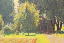 Daniel Garber Landscape Painting ♫ ♪ ♥●•٠·˙ ☯ / Landscape Painting by American Impressionist Artist Daniel Garber