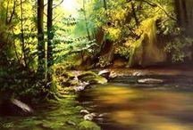 Landscape oil paintingsi ♫ ♪ ♥●•٠·˙ ☯