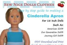 "18 Inch Dolls Clothes Patterns / Patterns designed for 18"" Dolls"