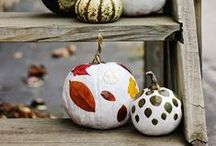 DIY Fall Decorations With Natural Pumpkins / Cool DIY Fall Decorations With Natural Pumpkins