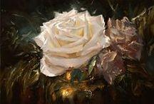 Flowers:paintings,art ♫ ♪ ♥●•٠·˙