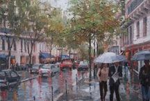 Eugene J. Paprocki ♫ ♪ ♥●•٠·˙ ☯ /  American Impressionist painter Eugene J. Paprocki Born in Chicago, IL in 1971. An avid painter since childhood, he studied Business and Fine Art at Loyola University in Chicago. After receiving his bachelor's degree, Paprocki augmented his formal art studies with extensive travels in Europe, painting and visiting the great museums. Exhibited widely, he has been featured in 14 one-man exhibitions and many prestigious group shows on two continents.