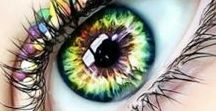 It's All In The Eyes / This board is STRICTLY FOR EYES!  Contacts, makeup, just outstanding eyes!  No Limit! Thank you if you decide to follow one or more of the boards.  Enjoy!