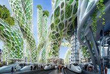 Our cities in the future / Des projets de bâtiments impressionnants qui seront peut-être un jour réalisés
