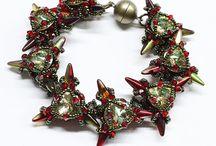 Beading - Spikes (bracelet, earring)
