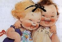 Little Folks - Illustrations - Vintage - Postcards / by Klaverke