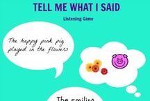 Listening Games and Auditory Processing Activities / Activities and games to promote listening skills and following directions.
