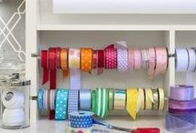Gift Wrapping Stations / Beautiful gift wrapping stations to store wrapping paper, ribbon, washi tape and more!