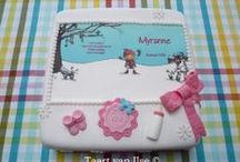 Birth cakes for girls