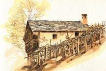 Albano Marcarini watercolors / Acquarelli di Albano Marcarini