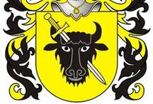 """✿ - Heraldry - ✿ / """"Pomian"""" - is a Polish Coat of Arms. It was used by several noble families in the times of the Polish-Lithuanian Commonwealth. The origin of this coat-of-arms can be traced back to 1279.  This is a communal coat-of-arms and is shared by other Great Polish Families, among others DZIEMBOWSKI.  The Pomian coat of arms, being born by multiple families, as with most Polish armorial bearings, has multiple variations to the basic design."""