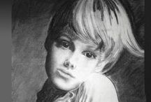 My Drawings and Paintings / Before retiring and becoming a sculptor, I was a painter using oils and pastels. I drew portraits for commissions. These were practice sketches used to hone my skills.