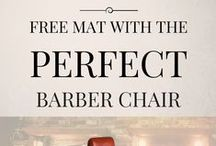 Barber Shops Design  & Decor Ideas / Barber Shop Ideas including Barber Chairs and Barber Stations.