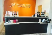 Hair Salon Design Ideas Salon West Largo / We are so excited to show off Salon West's renovation update. They redid the floors and purchase brand new Styling Chairs and Italian Shampoo Units with a massage feature. The new salon equipment is made by Salon Ambience.