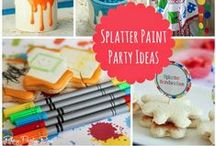 PAINT SPLATTER | Party Theme / Splatter Paint Party | Art | Birthday | Theme | Decorations | Ideas | Food | Snacks | DIY | Rainbow | Easel | Little Artist | Colorful Decor | Coloring | Crafts | Activities