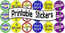 Printable Stickers / Printable stickers for teachers at Clever Chameleon TPT.