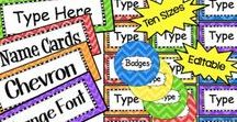 Editable Labels for the Classroom / Hi Teachers! This is a collaborative board to showcase labels to use in the classroom. Please follow Clever Chameleon and email me at cleverchameleontpt@gmail.com with your Pinterest address if you would like to join. Feel free to pin as many pins as you like :)