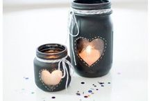 Bottle, Jar, & Ball Jar Art / by Shari Pennewell