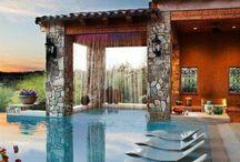 Exteriores / Patios, terrazas, cocinas exteriores, barbacoas, chimeneas, piscinas, fuentes y muebles de exterior